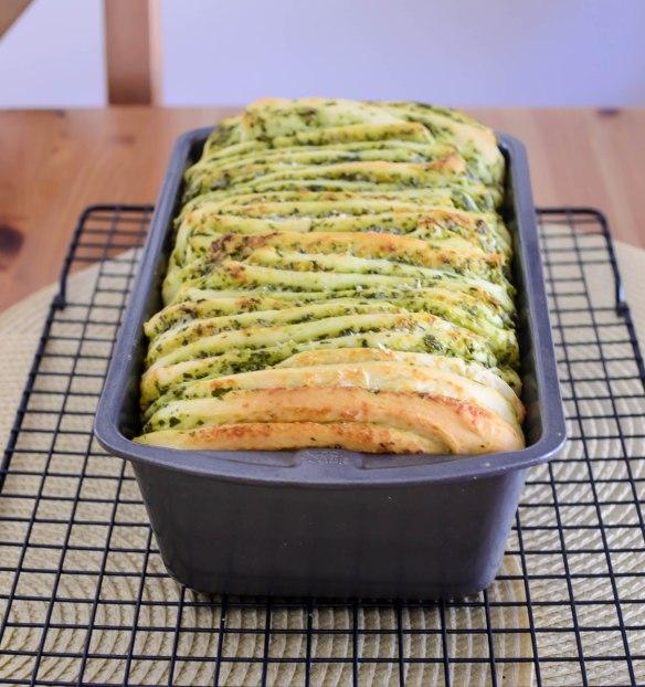 Pesto Parmesan Pull-Apart Bread #TwelveLoaves