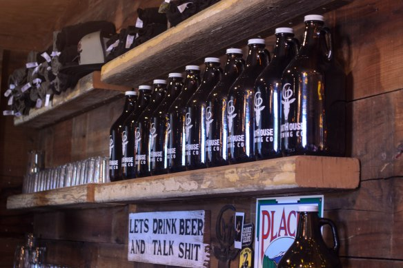Growlers ready to be filled